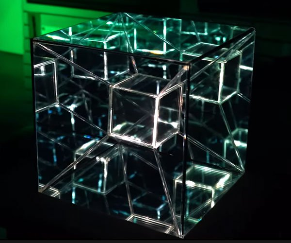 Infinity Mirror Box Sculpture
