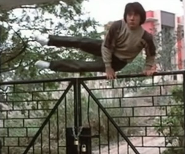 Jackie Chan Jumping Over Things