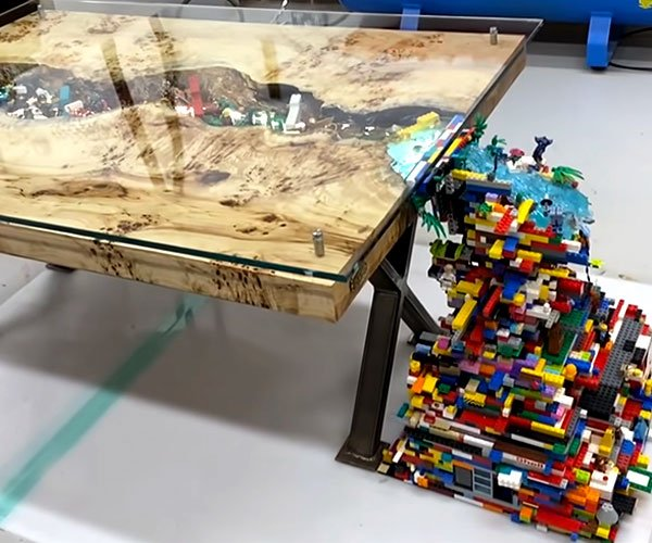 LEGO River + Waterfall Table