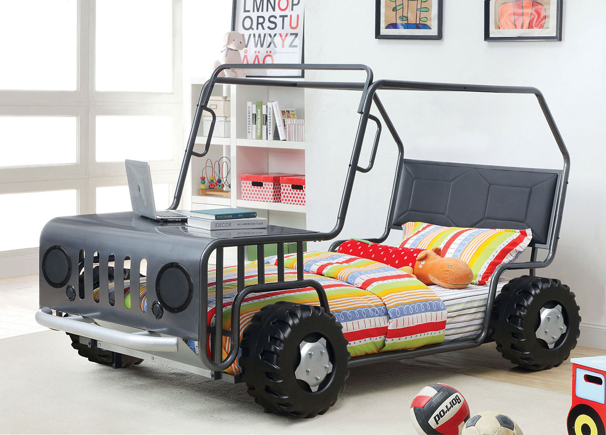 Off-Road Car Twin Bed