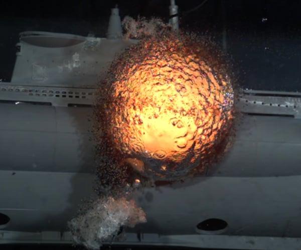 Slow-Mo Submarine Explosion
