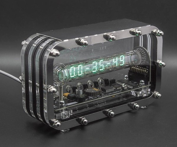 Transparent VFD Tube Clock