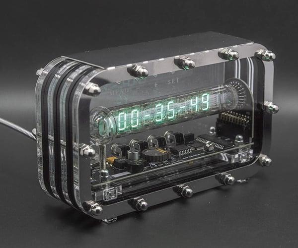 Transparent VFD Tube Clock