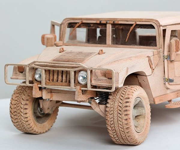 Carving a Wooden Hummer H1