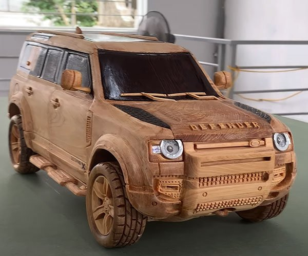 Carving a Land Rover Defender