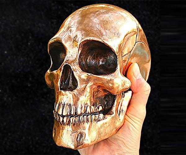 Making a Lost PLA Bronze Skull