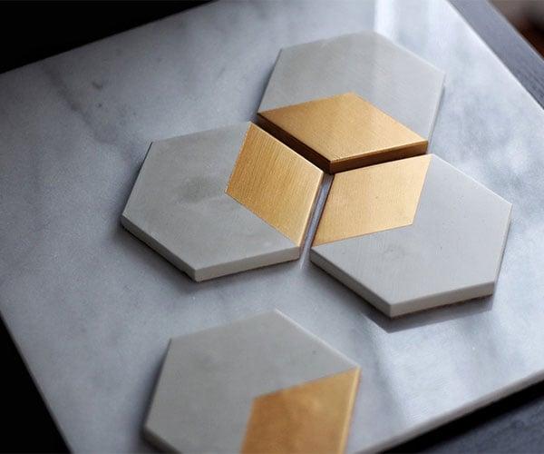 Concrete Hexagonal Coasters