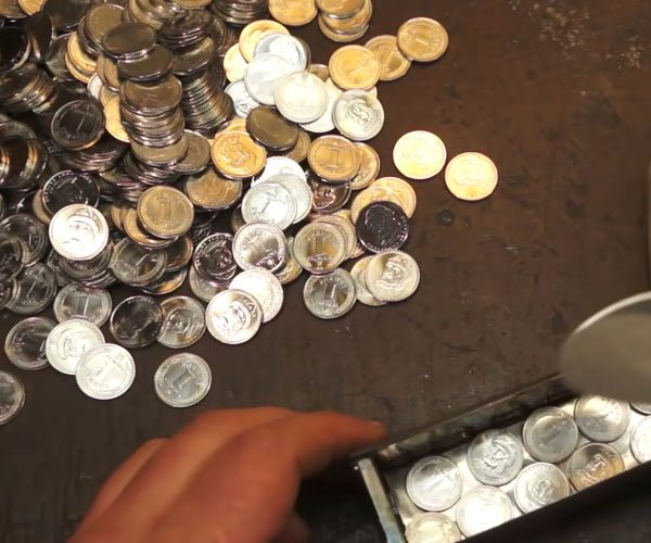 Making Damascus from Coins