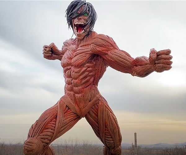 Eren Yaeger Tire Sculpture