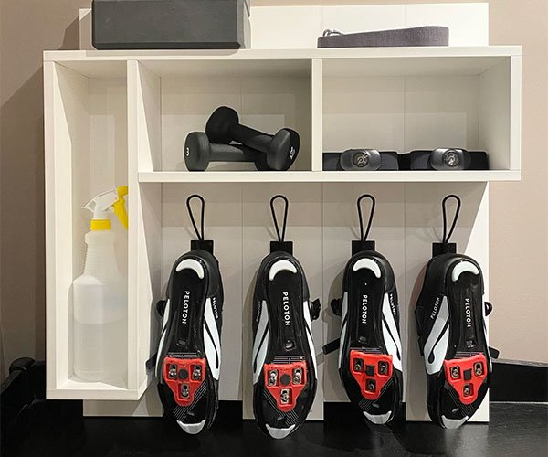 Workout Gear Wall Rack