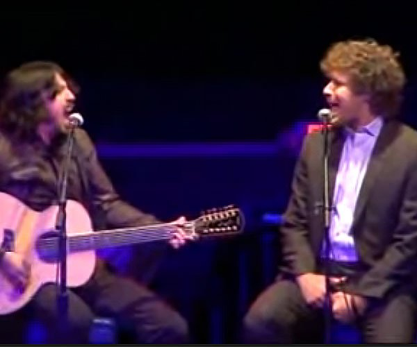 Ferrell and Grohl Sing Leather and Lace