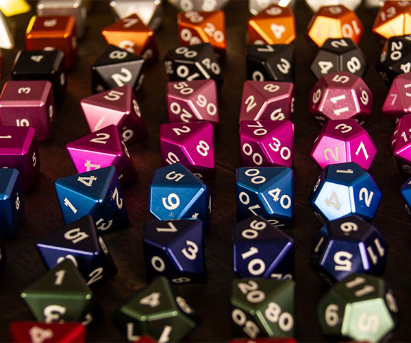Metal Polyhedral Dice Set