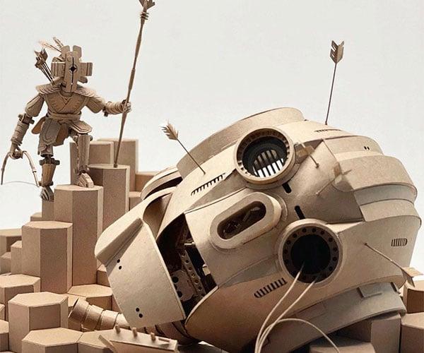 Cardboard Art by Greg Olijnyk