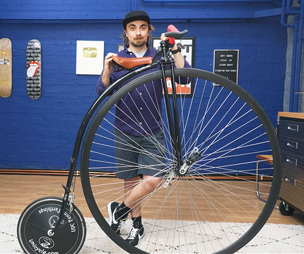 Learning to Ride a Penny-Farthing