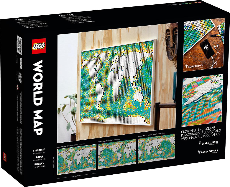 LEGO Art World Map