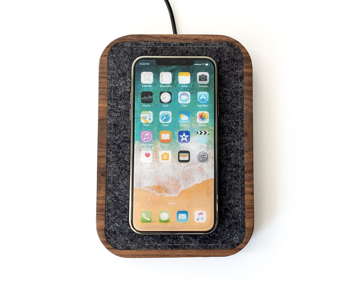 Wood iPhone Charging Station