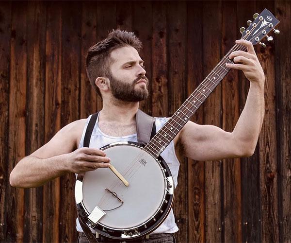 Mozart on Banjo Guitar