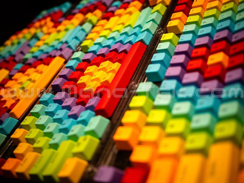 Rainbow Keycap Set