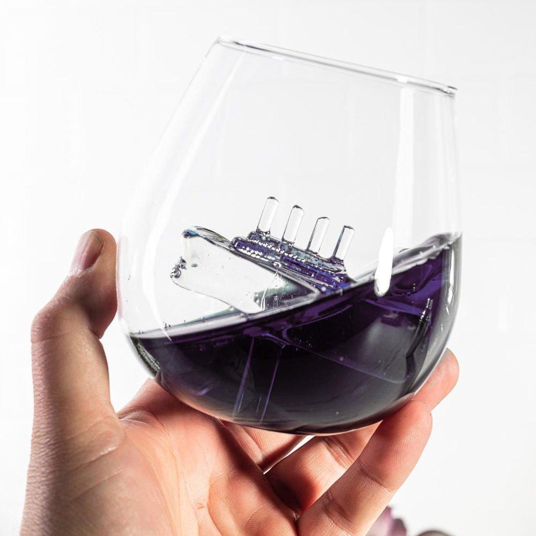 Sinking Ship Drinking Glass