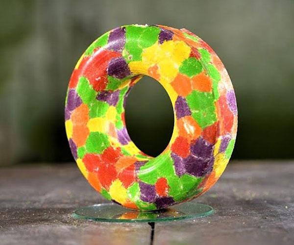 Making a Skittles Donut
