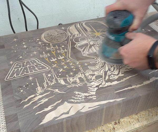 Making a Star Wars Cutting Board