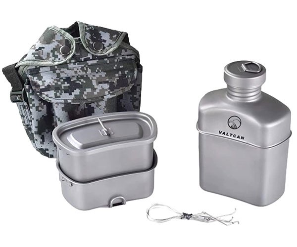 Valtcan Titanium Military Canteen + Mess Kit