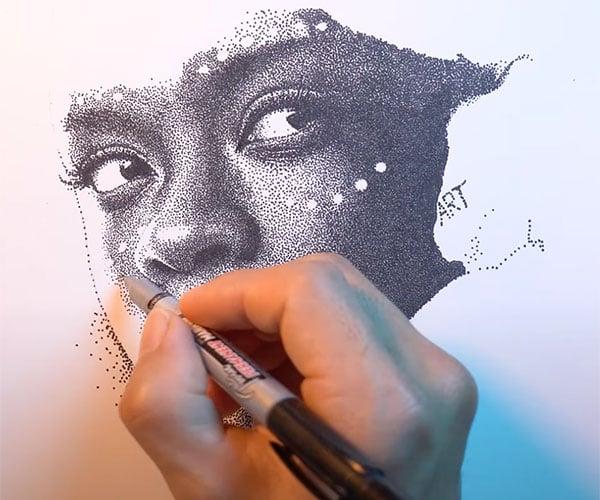 182,336 Dot Drawing