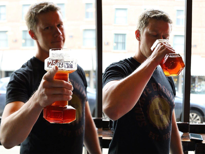 Dumbbell Beer Glasses