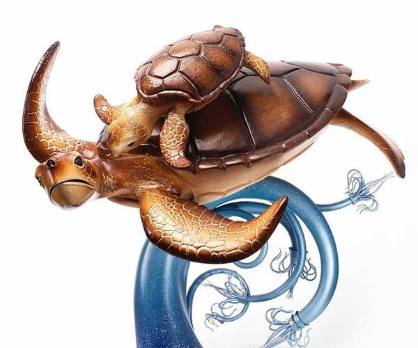Making a Chocolate Sea Turtle Sculpture