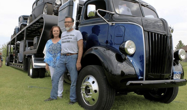 Classic Truck Carries Classic Cars