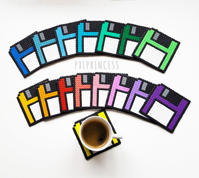 Floppy Disk Pixel Coasters