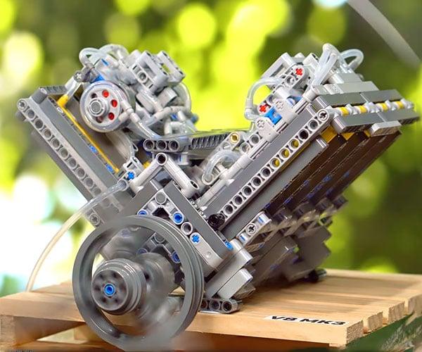 LEGO Pneumatic V8 Engine