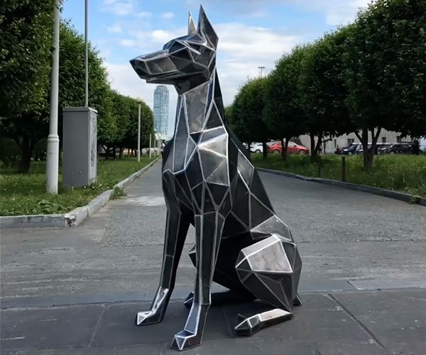 Making a Low-Poly Dog Sculpture