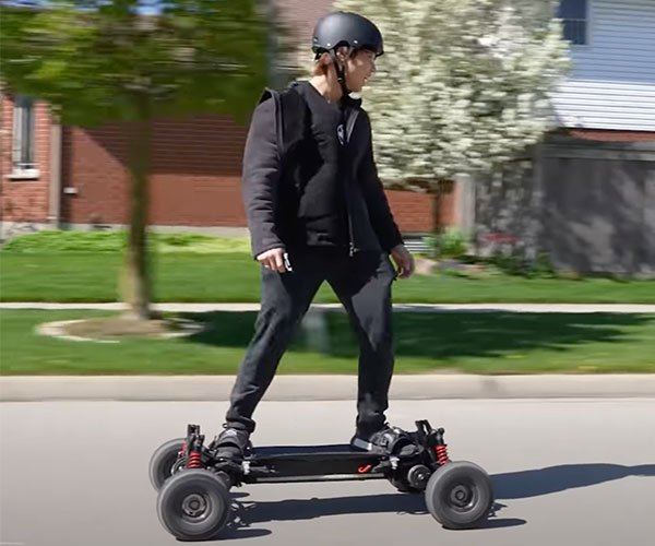 Overpowering an Electric Skateboard
