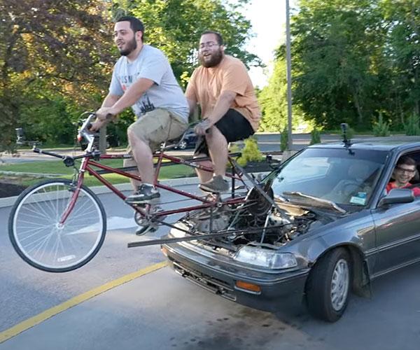 Bicycle-powered Car