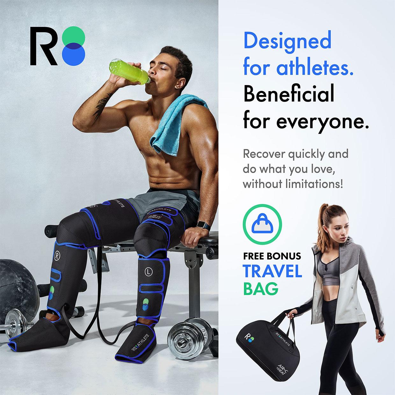 Re-Athelete AIR-C + HEAT Leg Massager