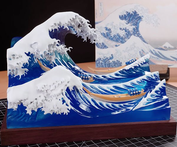 Sculpting the Great Wave