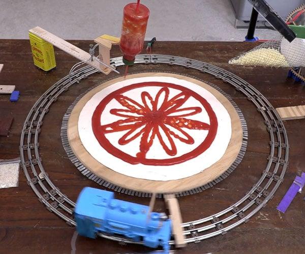 Rube Goldberg Pizza Factory
