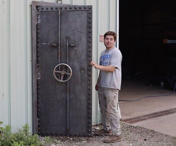Making a 400-Pound Steel Door