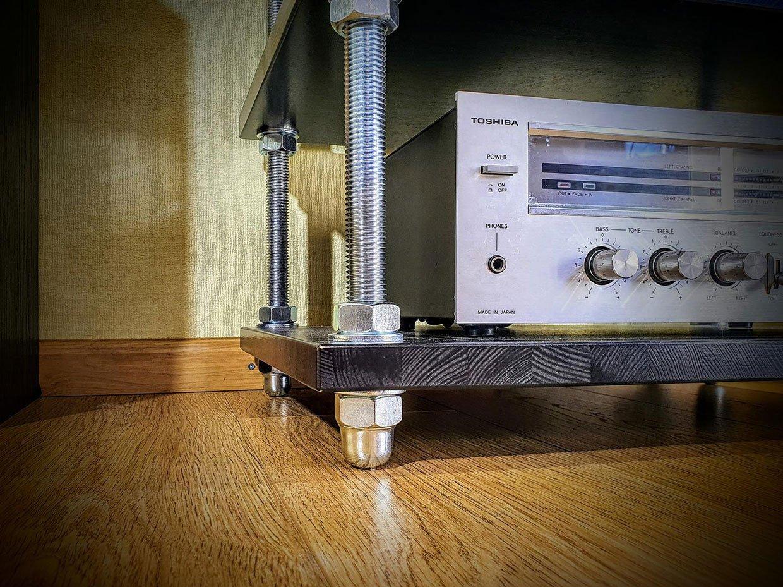 Threaded Rod Audio Rack