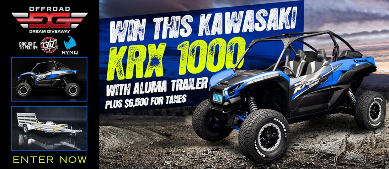 Win a Kawasaki Teryx KRX 1000 UTV