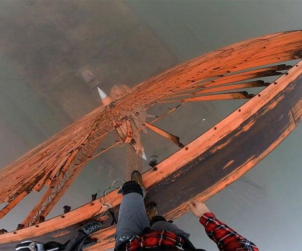 Wind Turbine Base Jump