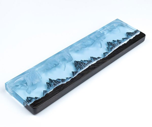 Resin and Wood Wrist Rests