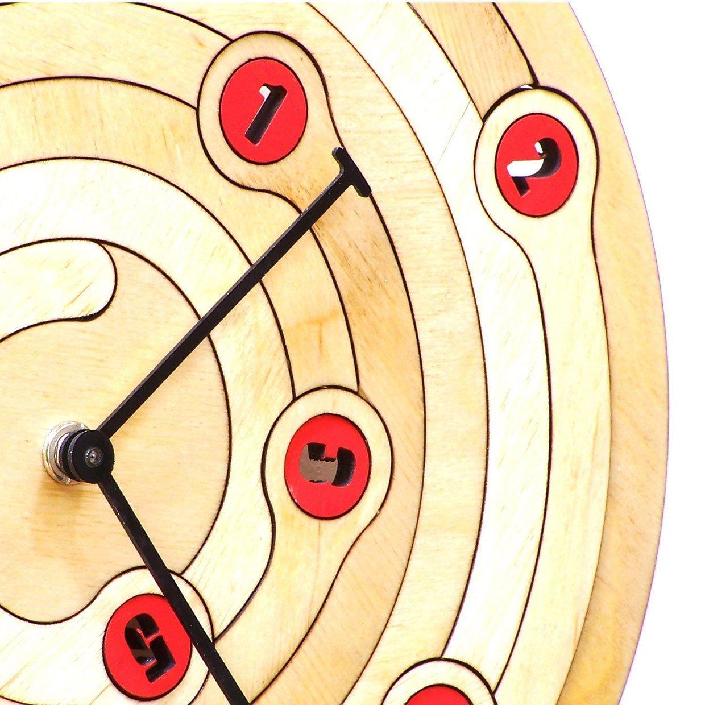 Wood Spiral Clock