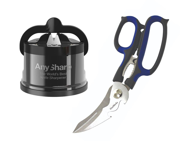 AnySharp CHEF Pro Sharpener + Smart Scissors Set