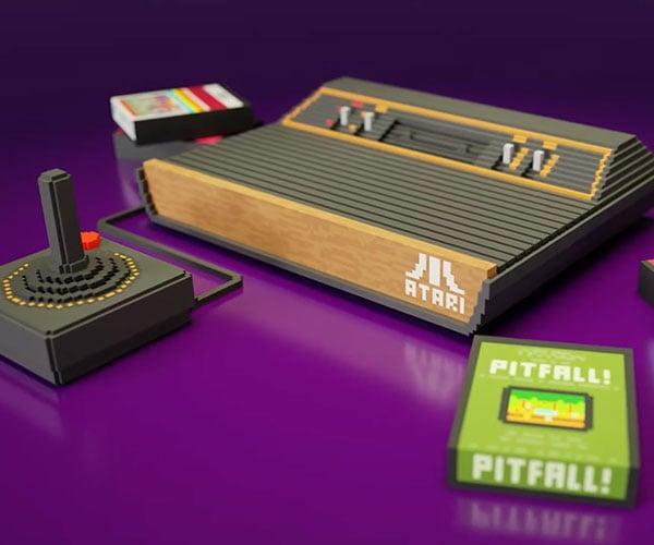 Atari 2600 3D Voxel Art