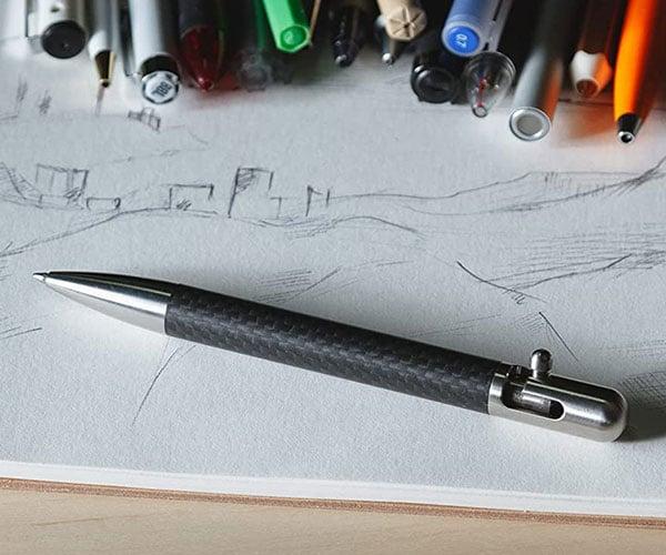 Bastion G2 Carbon Fiber + Stainless Steel Pen