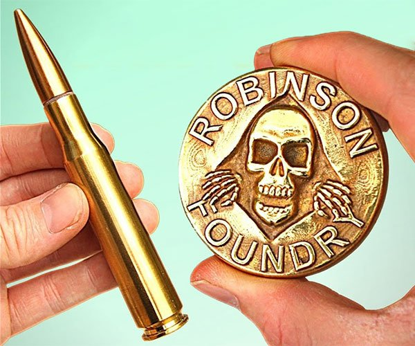 Turning Bullet Casings Into Brass Coins
