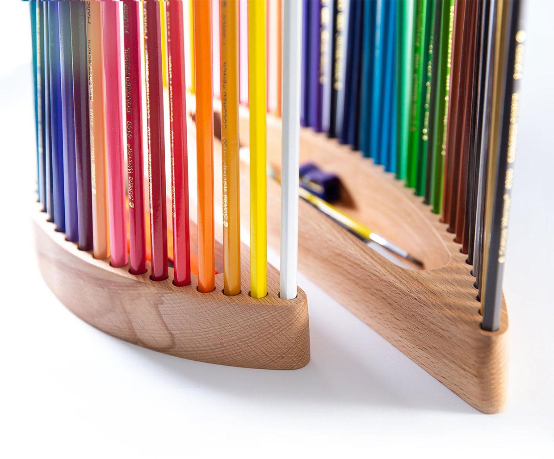 Curved Colored Pencil Organizer