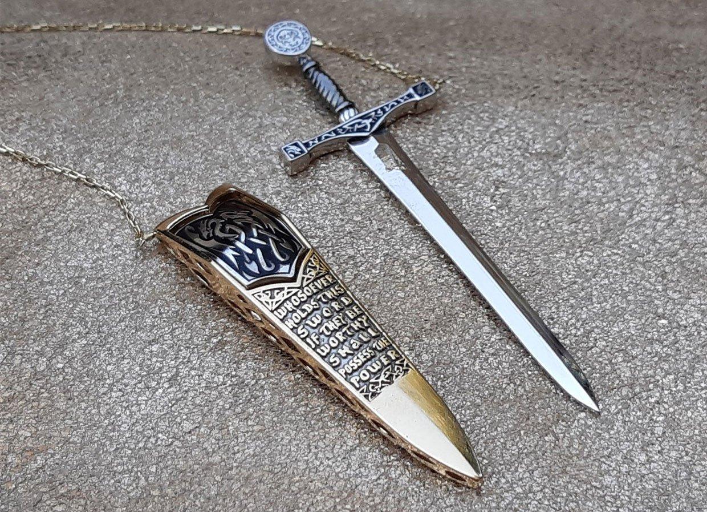 Excalibur Sword Necklace
